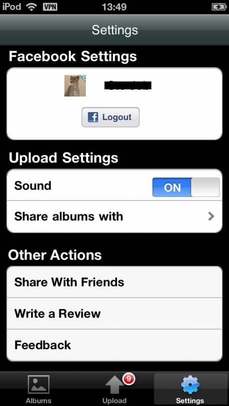 F Photoloader for iPhone and iPad