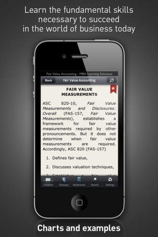 Fair Value Accounting - MBA Learning Solutions for iPhone