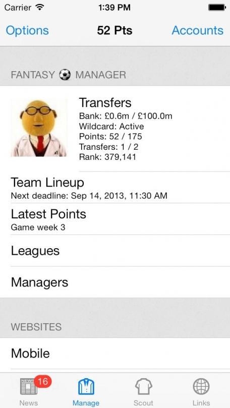 Fantasy Football Manager (FFM)