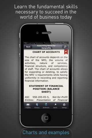 Finance for Non-profit Managers - MBA Learning Solutions for iPhone
