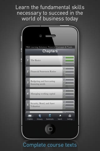 Financial Concepts & Tools - MBA Learning Solutions for iPhone