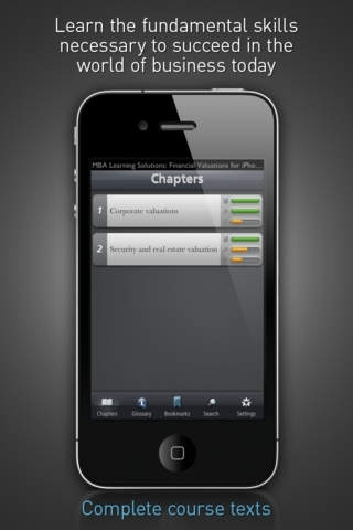 Financial Valuations - MBA Learning Solutions for iPhone
