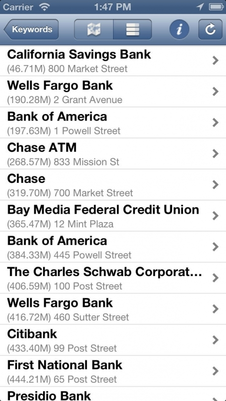 Find Near Me for iPhone - Find nearby ATM's, Taxi, Hotels & everything around you