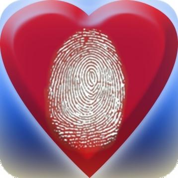 Fingerprint LOVE mood scanner Lite