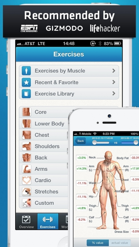 Fitness Buddy : 1700+ Exercise Workout Journal