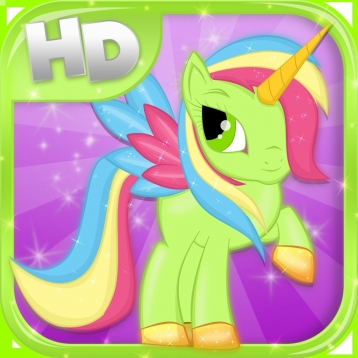 Little Magic Unicorn Dash HD: My Pretty Pony Princess vs Shark Tornado Attack Game - All FREE