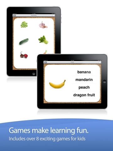Flashcards for Kids - First Food Words