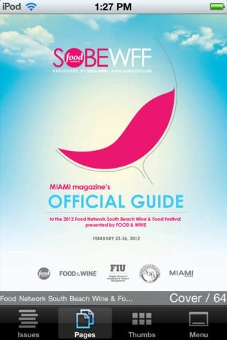 Food Network's SOBEWFF Official Guide: iPhone Edition