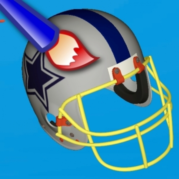 Football Helmet 3D - Design your helmet decals