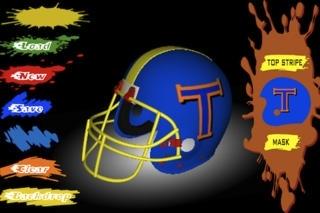 Football Helmet 3D - Design your helmet decals