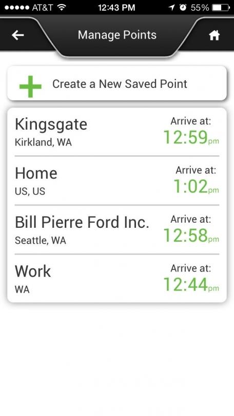 Ford SYNC® Destinations