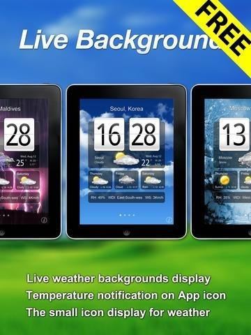 Free Live Weather Clock