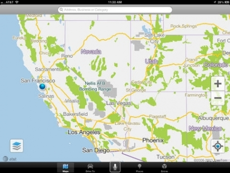 Free Maps, Search & Gas Prices: AT&T GPS Navigator