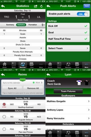 French Division 1 2012/13 with PUSH Alerts