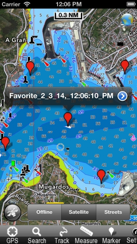 Galicia - Nautical Chart GPS