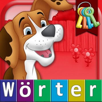 German First Words with Phonics: Kids Preschool Spelling & Learning Game