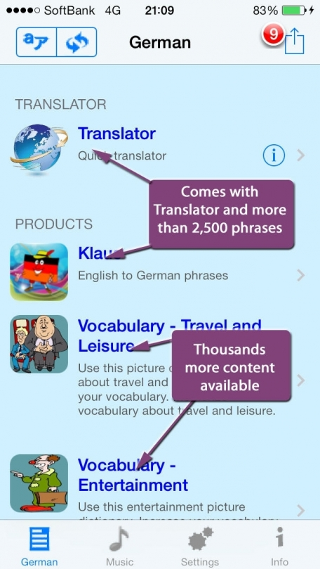 German - Talking English to German Translator and Phrasebook
