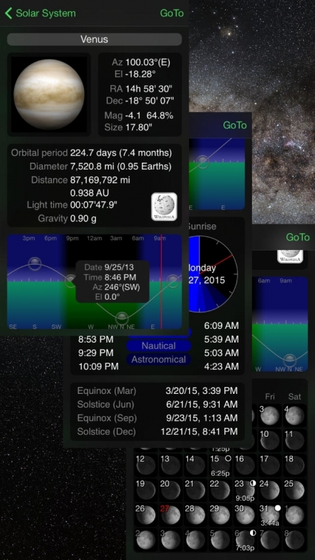 GoSkyWatch Planetarium - the astronomy star guide