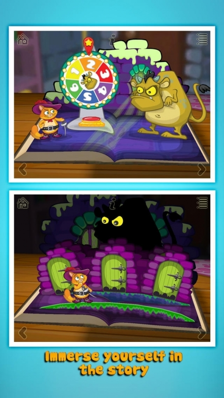 Grimm's Puss in Boots ~ 3D Interactive Pop-up Book