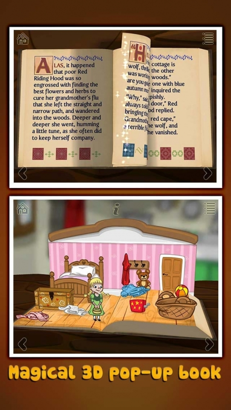 Grimm's Red Riding Hood ~ 3D Interactive Pop-up Book
