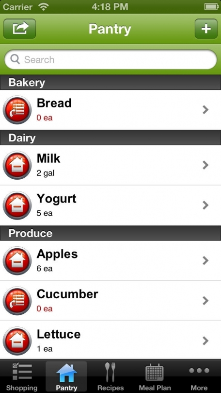 GrocerEaze : The easiest way to grocery shop, now with meal planning!