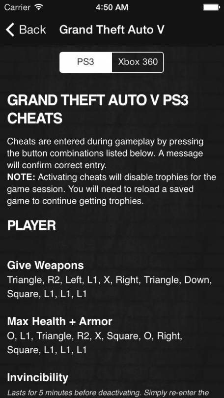 GTA Cheats - for All Grand Theft Auto Games