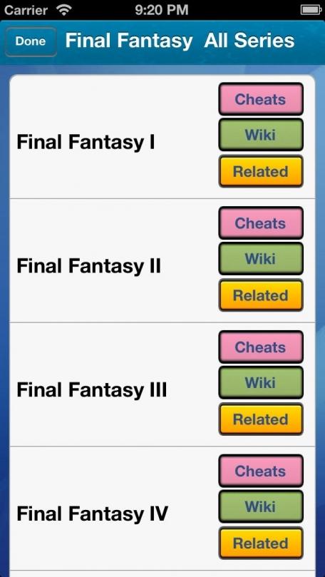 Handy Cheats : Top Games Series Version