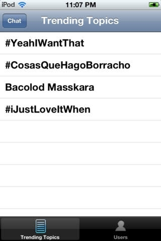 #hashchat - Twitter Trending Topic Chat