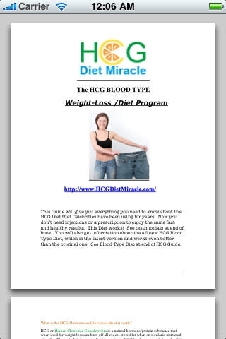 HCG Diet Miracle Customized For Your  Blood Type