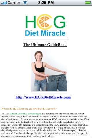 HCG Diet Miracle-The Healthy and Natural Way to Lose Weight