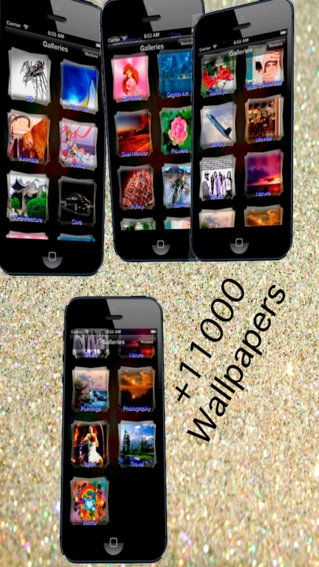 + 11000 Cool Wallpapers for iPhone, iPod and iPad