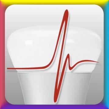 Hue Color LED-light BioFeedback via Bluetooth LE Heartrate monitor