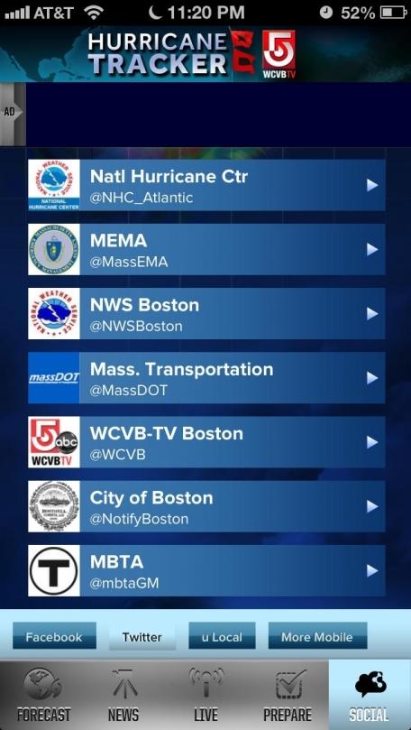 Hurricane Tracker WCVB 5 - Boston, Massachusetts