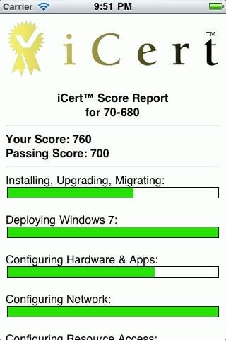 iCert 70-640 Practice Exam for Microsoft TS: Windows 2008 Active Directory, Configuring