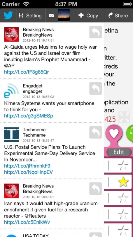 IKKI - Multi posting for Twitter, Facebook, Evernote and Mixi