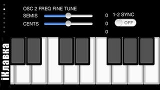 !iM: iKlavka, classic monophonic (two voice) sound synthesizer with full screen piano keyboard. Full version.