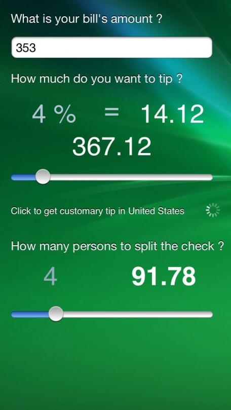 !iM: Tips calculator.