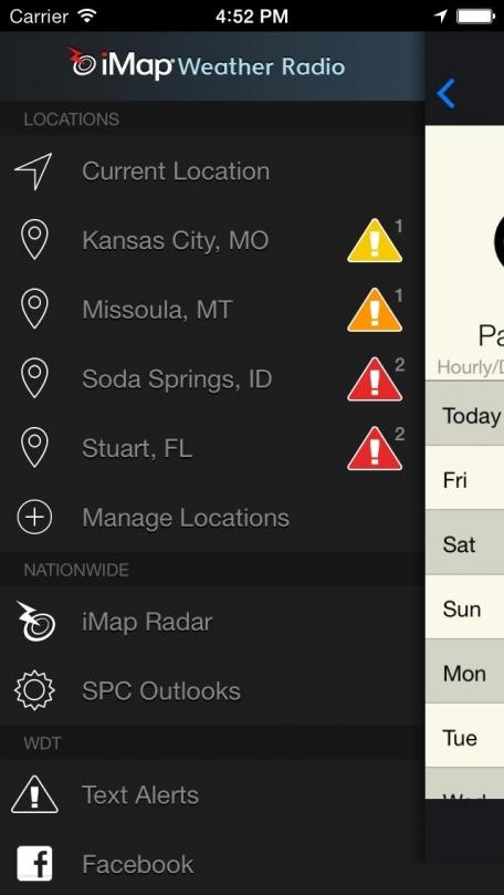 iMap Weather Radio -NWS Weather Alerts like a NOAA Weather Radio & Radar