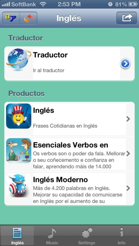 Inglés - Spanish to English Translator and Phrasebook With Audio