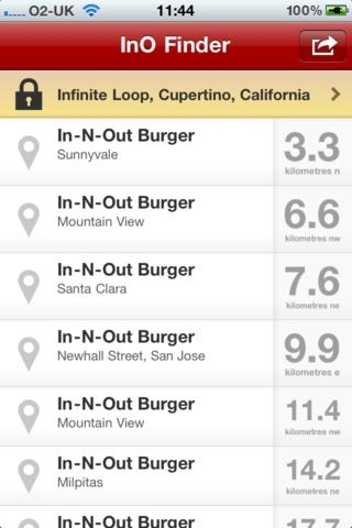 InO Finder - Find your nearest In-n-Out Burger