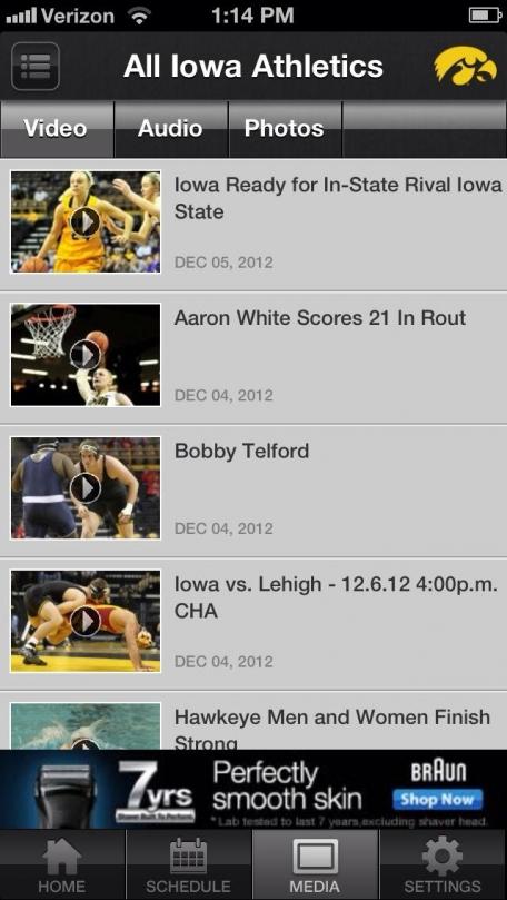 Iowa Hawkeye Sports