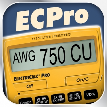 ElectriCalc Pro -- Advanced NEC Code Calculator for Electricians, Electrical Contractors, Inspectors, Plant Engineers and other Building Professionals doing Electrical Math