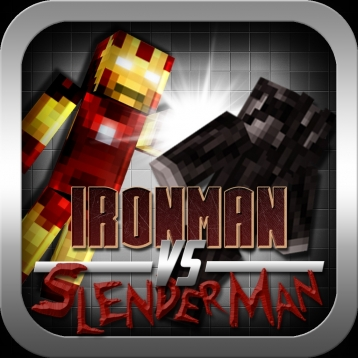 Ironman vs Slenderman - Minecraft Style Edition