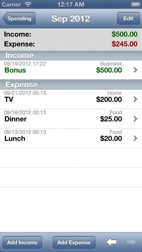 iSpending - Expense Tracker
