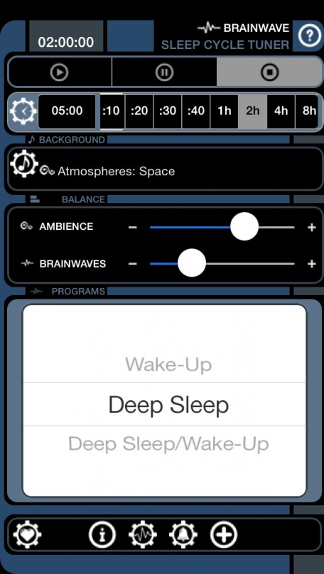 Brain Wave Sleep Cycle Tuner ™ - Advanced Binaural Brainwave Entrainment with Relaxing Ambient Nature and Electronic Backgrounds, Gentle Alarm Sounds, and iTunes Music for Sleep and Morning Energy