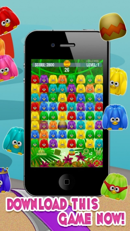 Jelly Birds Pops - The Top Free Addictive Match 3 Game