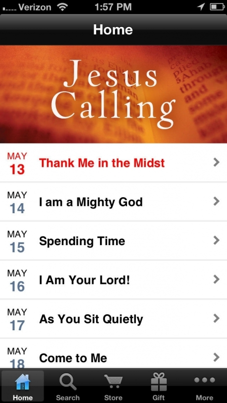 Jesus Calling Devotional by Sarah Young