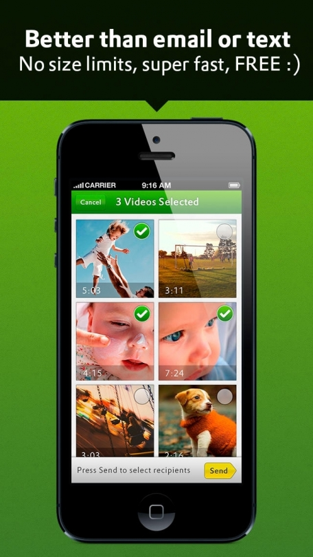 Joya Video - Send Videos by Email or Text Message
