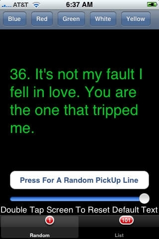 101 Pick Up Lines