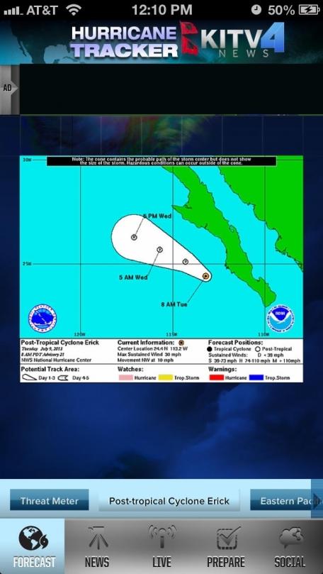 KITV Hurricane Tracker